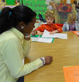 cadet in classroom